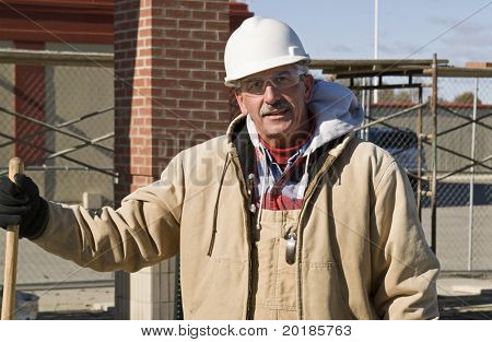 Construction Straight Talk, Manager with Coat and Hard Hat