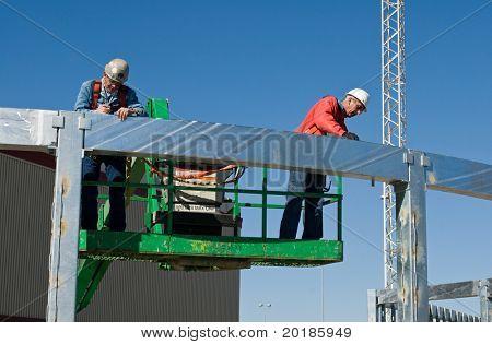 Workers Marking Radius
