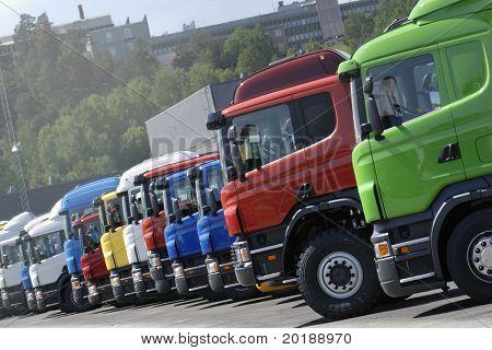 trucks on line, production line