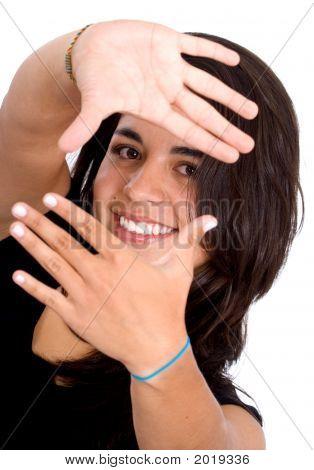 Girl Doing A Handframe