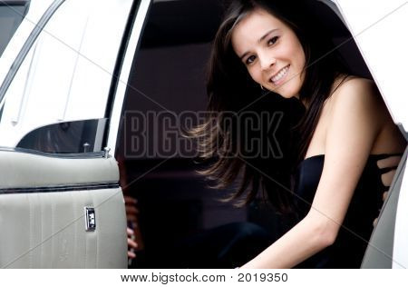 Young Girl In A Limousine
