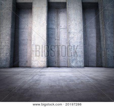 sala de pedra com colunas