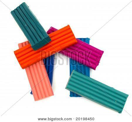 Multi-colored Plasticine