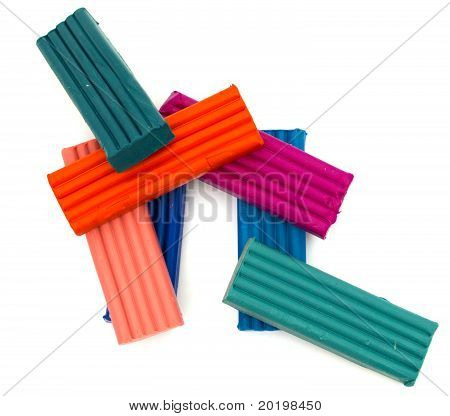 Plasticine multi-coloridas