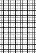 Black grid on white background