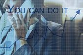 You Can Do It Quote Aspiration Optimistic poster