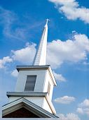 Church Steeple With Clouds016
