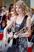 NEW YORK - OCTOBER 26: Singer Taylor Swift performs on NBC's Today Show at Rockefeller Plaza on Octo