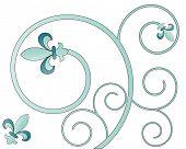 picture of fleur de lis  - fleur dis lis vector - JPG