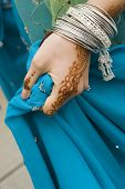 stock photo of rajasthani  - henna hand - JPG