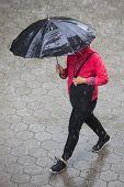Rainy Weather Umbrella poster