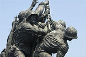 stock photo of rosslyn  - The Iwo Jima Memorial located in Rosslyn Virginia - JPG