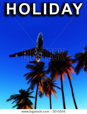 Holiday Plane And Wild Palms