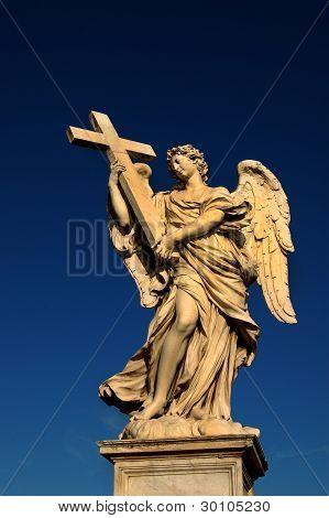 Sant Angelo Bridge, Rome, Angel with Cross