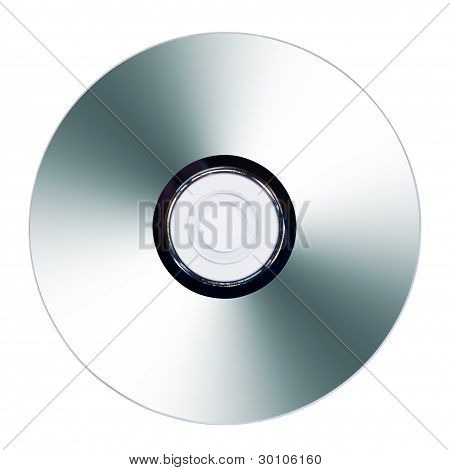 Cd Or Dvd On White Background
