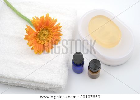 Essential oil and bath supplies