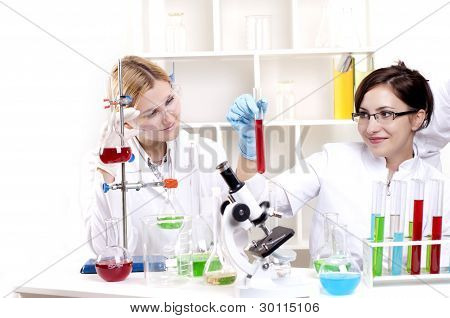portrait of a group of chemists