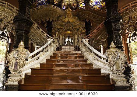 Stairway At Erawan Museum