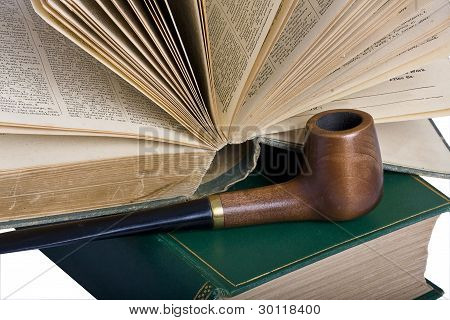 Two Old Books And A Pipe