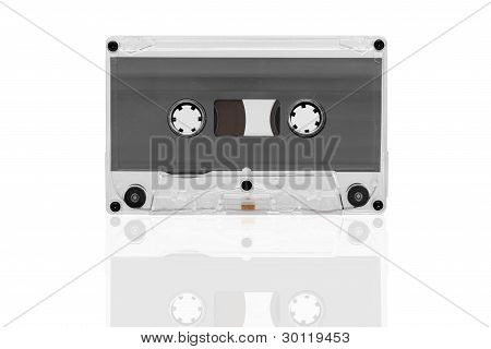 Old Tape Cassette Isolated,
