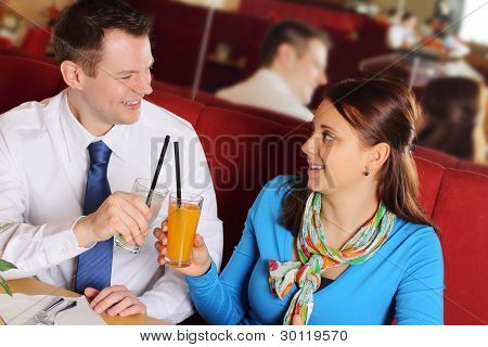 Couple at a bar