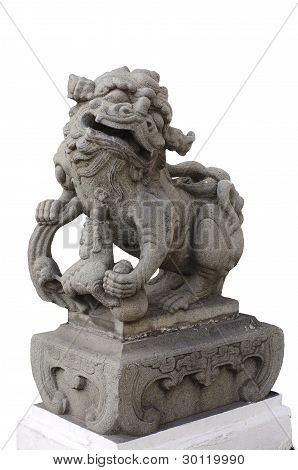 Legendary Female Lion Guard Statue