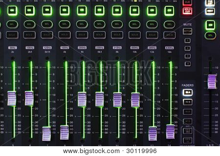 Sound Mixer System with Operating Light