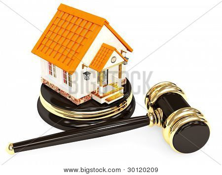 Sale of a house. Object over white