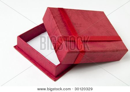 Red Gift Box Isolated