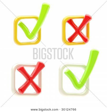 Vote and voting: set of ticks isolated