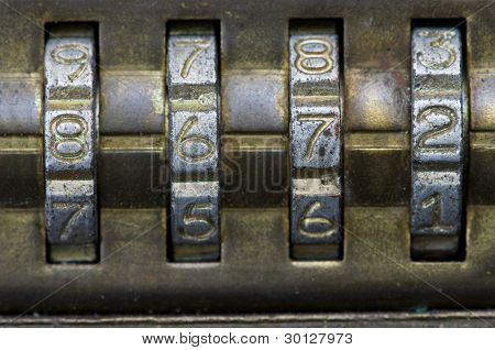 8672 On Combination Lock