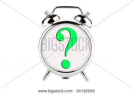 Question Symbol On Alarm Clock
