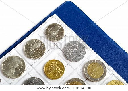 Album With Coins For Numismatics