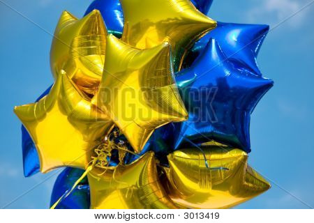 Shiny Star Balloons
