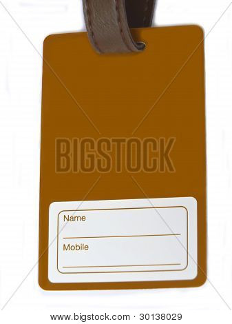 Namecard tag on white background