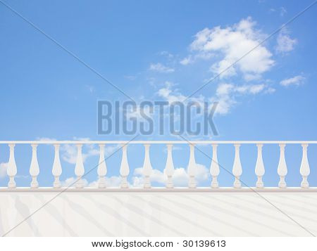 Empty classic terrace