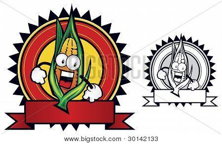 corn mascot