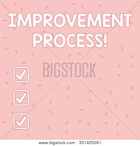 poster of Text Sign Showing Improvement Process. Conceptual Photo Ongoing Effort To Improve Products And Servi