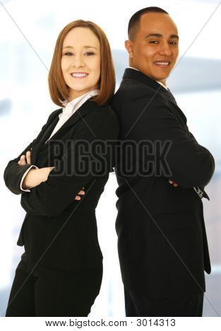 Successful Business Team Smiling