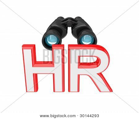 Word HR and binoculars.