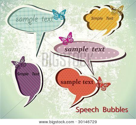 Speach bubbles. Vector