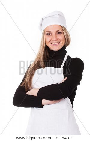 The image of cook under the white background