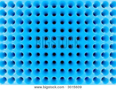 Abstract Blue High-Tech Mesh Structure. 3D Render.