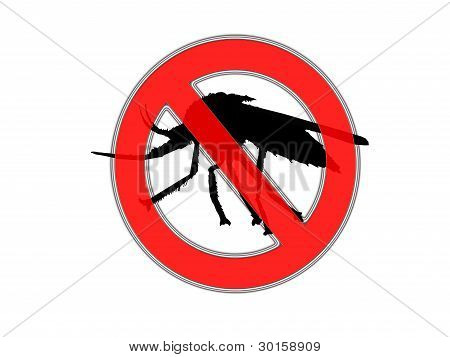 Bug off and repellant sign