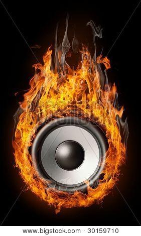 Burning speaker -