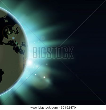 Earth Eclipse Concept