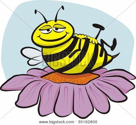 resting bee