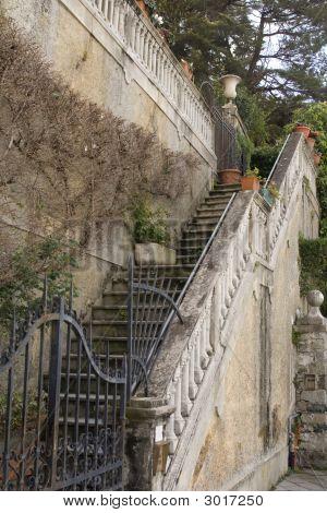 Old Outdoors Staircase Of Italian Villa