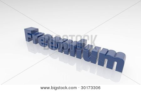 3d text Freemium - XXXL