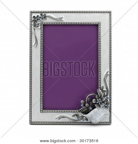 Spruce Table Photo Frame Isolated On White